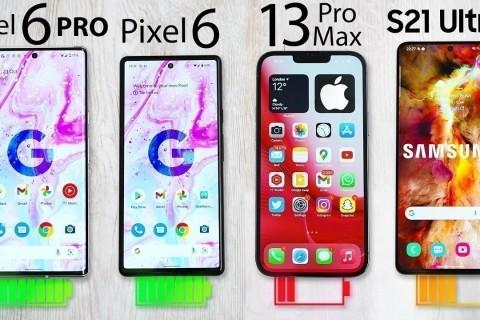 Pixel 6 Pro, Pixel 6, iPhone 13 Pro Max ve S21 Ultra Batarya Testi