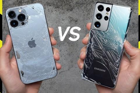 iPhone 13 Pro Max ve Galaxy S21 Ultra Düşme Testi