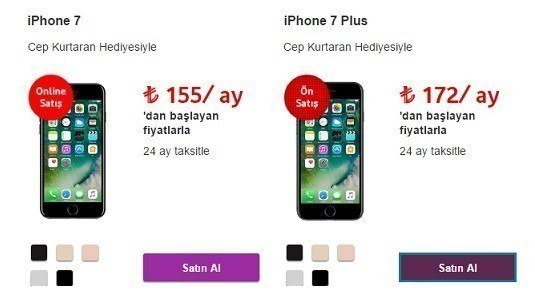 Vodafone iPhone 7 ve iPhone 7 Plus modellerini ön satışa sundu