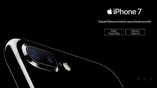 Turkcell iPhone 7 ve iPhone  7 Plus'ı ön satışa sundu