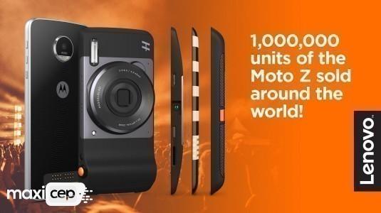 Lenovo, Bir Milyonuncu Moto Z için Kutlama Mesajı Yayınladı