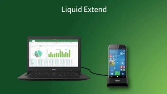 Acer Liquid Extend,  Windows 10 Mobile Continuum Aksesuarı olacak