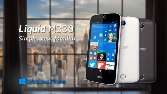 Acer, Windows 10 Mobile Akıllı Telefonu Liquid M330'u ABD'de Satışa Sundu