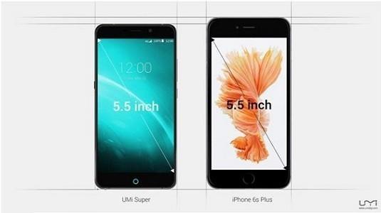 Çinli UMI'nin yeni akıllısının ekran / gövde oranı iPhone 6S Plus'dan daha iyi