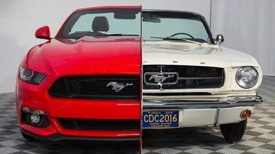 Ford Mustang'in 1965 ve 2015 Modelleri Tek Bir Bünyede Buluştu