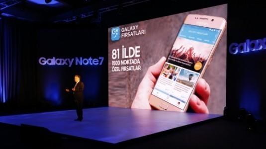 Samsung Galaxy Note 7 Türkiye'de Satışa Sunuluyor