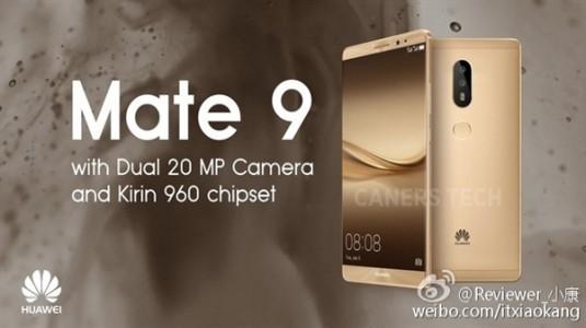 Huawei Mate 9 Özellikleri Belli Oluyor