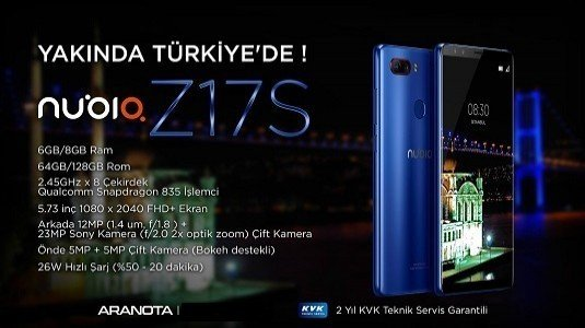 ZTE Nubia Z17S Türkiye Pazarında Satışa Çıkıyor