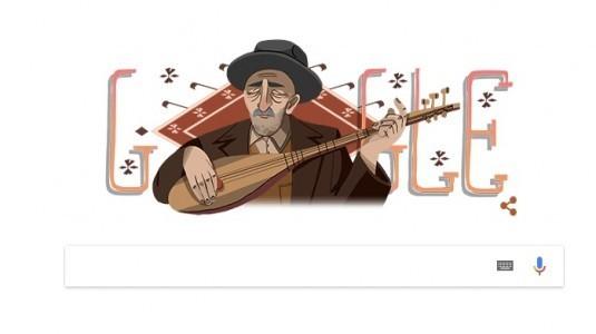 Google Aşık Veysel'i doğum gününde unutmadı