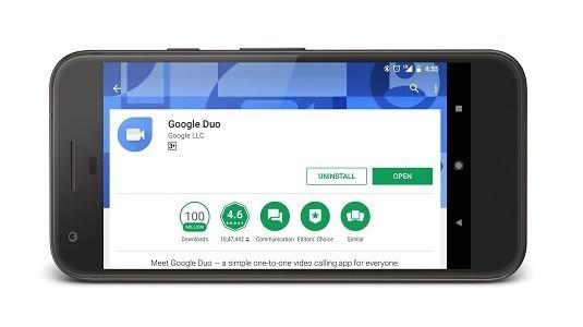 Google Duo, Play Store'da En Yüksek Puanı Alan İletişim Uygulaması Oldu