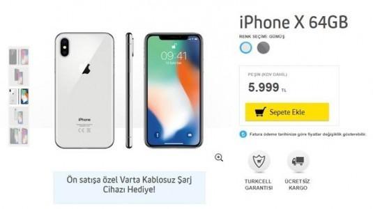 iPhone X'i Turkcell'den alacaklara, kablosuz şarj cihazı hediye