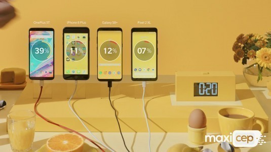 OnePlus 5T, 30 dakika da %57 oranında şarj oluyor
