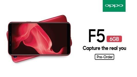 Oppo F5'in, 6 GB RAM'li sürümü Hindistan'da ön siparişe çıktı