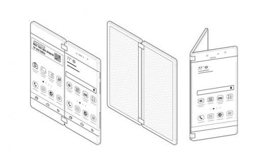 Samsung'tan, Axon M'yi andıran katlanabilir akıllı telefon