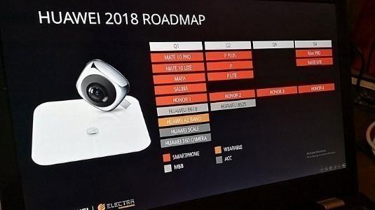 Huawei'nin 2018 Yol Haritası Sızdırıldı, Üç Yeni P Serisi Telefon İkinci Çeyrekte Geliyor