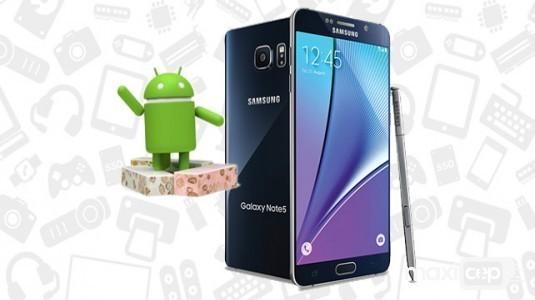Samsung Galaxy Note 5, Nougat güncellemesi aldı