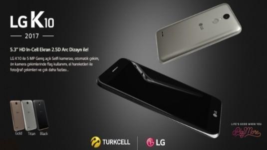 CES 2017'de Duyurulan LG K10 Türkiye'de Satışa Çıkıyor