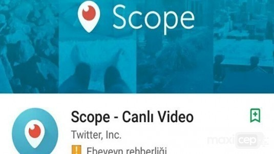 Periscope'ye erişim engeli ardından, yeni ismi Scope oldu