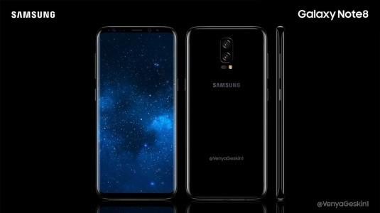 Samsung'un, Note 8'ine ait konsept görüntüleri