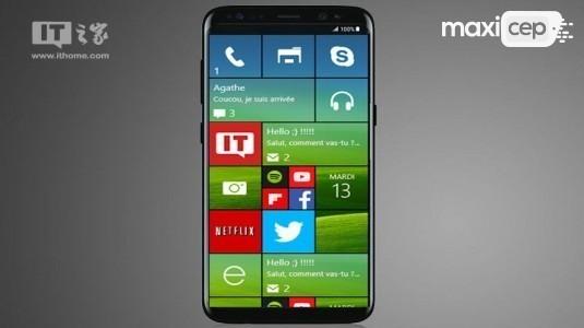 Samsung Ativ S8'in (Windows 10 Mobile Galaxy S8) Microsoft Etkinliğinde Tanıtılacağı İddia Ediliyor