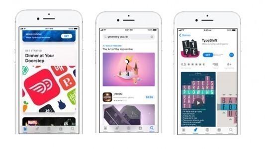 iOS 11 ile birlikte, App Store'da güncellenecek