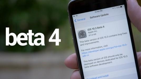 iOS 10.3.3 beta 4 indirip, kullanılabilir