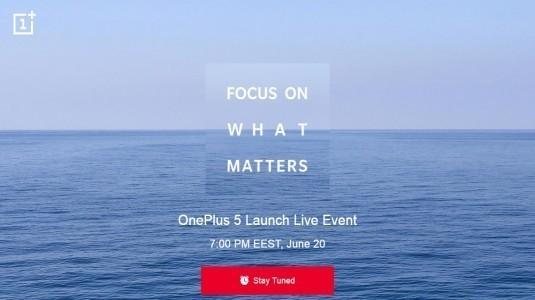 OnePlus 5, 20 Haziran'da Resmi Etkinlikte Tanıtılacak