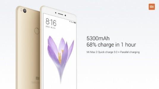 Xiaomi Mi Max 2, 5.300 mAh Batarya ile Hindistan'da Piyasaya Çıktı