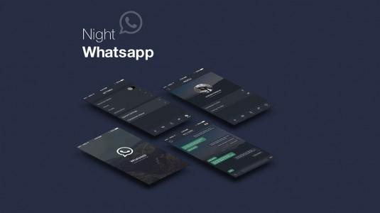 WhatsApp gece modu üzerinde çalışmalara başlamış