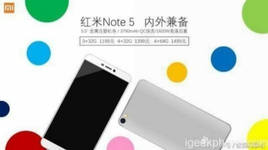 Xiaomi Redmi Note 5 Fiyatı ve Özellikleri İnternete Sızdırıldı