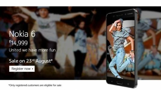 Nokia 6, Amazon Hindistan'da 1 Milyon Ön Kayıtı Geçti
