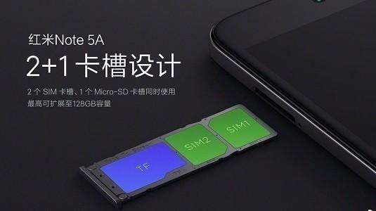 Xiaomi Redmi Note 5A Çift Sim ve Hafıza Kartı Desteği İle Geliyor