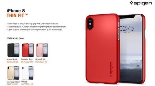 Spigen'in hazırladığı, iPhone 8 kılıfları sızdırıldı