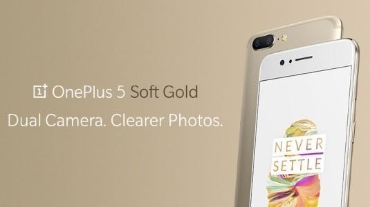 Sınırlı Sayıda Üretilecek Oneplus 5 Soft Gold Rengi Duyuruldu