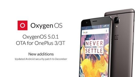 OnePlus 3 ve OnePlus 3T İçin OxygenOS 5.0.1 Güncellemesi Yayınlandı