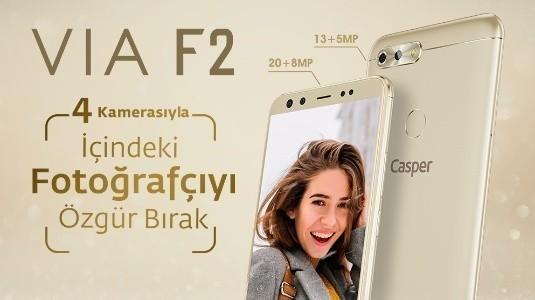 Casper'ın Dört Kameralı Telefonu VIA F2 n11.com'da Satışa Sunuldu