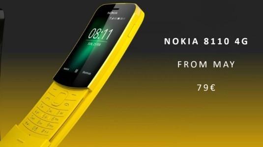 Efsane Telefon Nokia 8110, 4G ve Arka Kamera ile Yeniden Tasarlanıyor