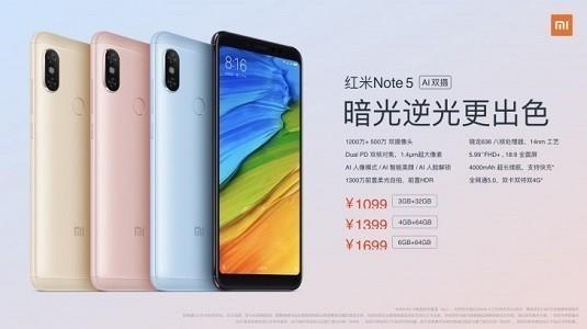 Xiaomi Redmi Note 5 Çin'de Yenilenmiş Özellikleriyle Duyuruldu
