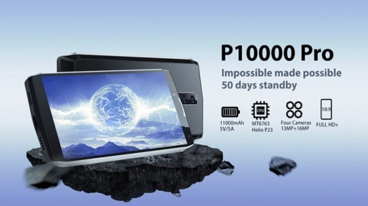 Blackview'den 11.000 mAh kapasiteli: P10000 Pro