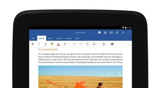 Microsoft Word, yarım milyon Android'li cihaza kuruldu