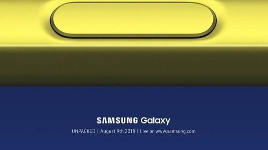 Samsung, Galaxy Note9'un Tanıtım Tarihini Açıkladı