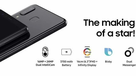 Çift Kameralı Samsung Galaxy A8 Star Duyuruldu