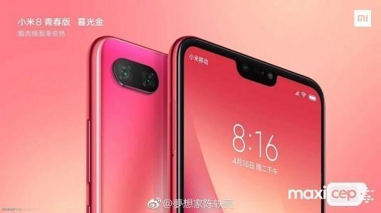Mi 8 Youth Edition'un tasarımı ile özellikleri gün yüzüne çıktı