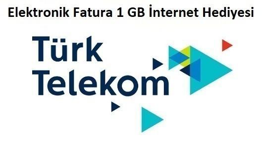 Türk Telekom Elektronik Fatura 1 GB Bedava İnternet Paketi