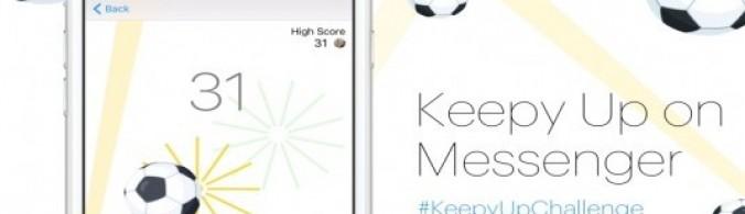 Facebook Messenger'ın Futbol Oyunu KeepyUp Kullanıma Sundu
