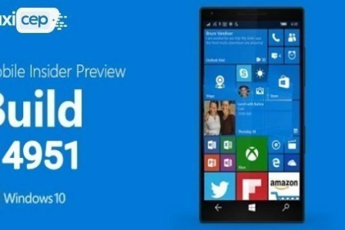 Windows 10 Mobile Yapı 14951 Yeni Özellikler Getirdi
