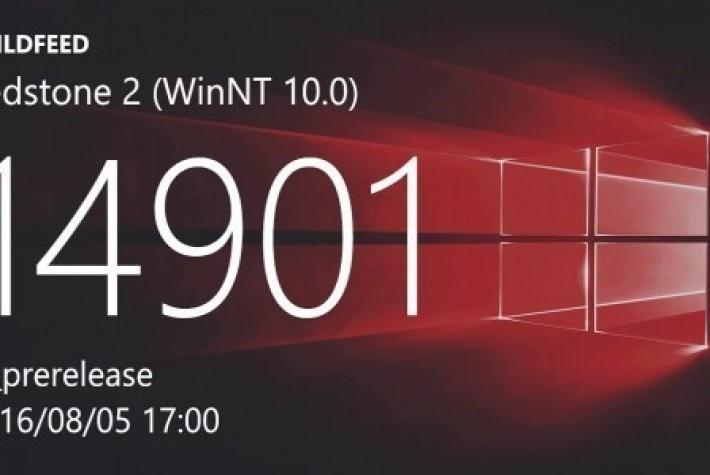 Microsoft, Redstone 2 için Yapı 14901 Sürümünü Bu Hafta Yayınlayabilir