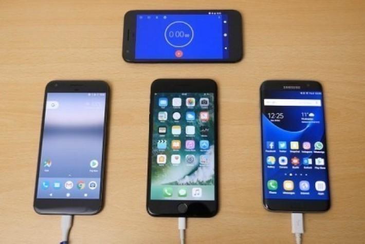 Pixel XL, iPhone 7 Plus ve S7 Edge batarya şarj süreleri