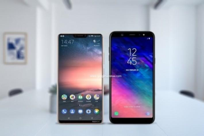 Galaxy A6 ile Nokia X6 modeli hız testinde