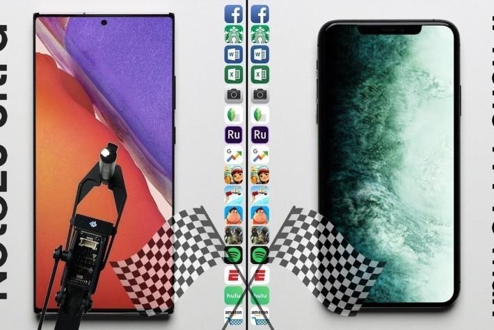 Galaxy Note 20 Ultra ve iPhone 11 Pro Max Hız Testi